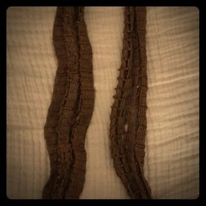 Intricate scarf, brown